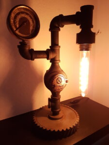 Steam Punk Lampe